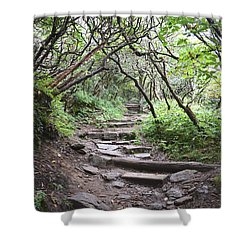 Shower Curtain featuring the photograph The Enchanted Forest Path by Gary Smith