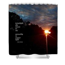 In Twilight Shower Curtain