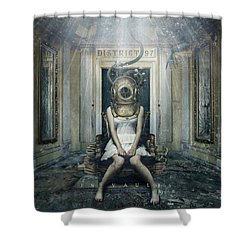 Shower Curtain featuring the digital art In Vaults by District 97