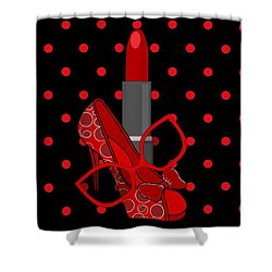 In Vogue - Fashion Illustration Shower Curtain
