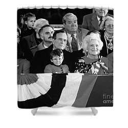 Inauguration Of George Bush Sr Shower Curtain by H. Armstrong Roberts/ClassicStock