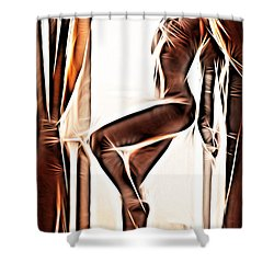 Inca Queen Shower Curtain by Jeff Iverson