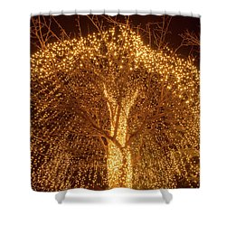Incandescent Branches  Shower Curtain