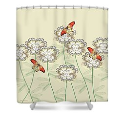 Incendia Flower Garden Shower Curtain