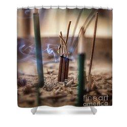Incense Burning Shower Curtain