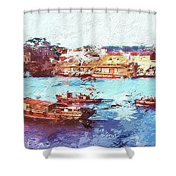 Inchon Harbor Shower Curtain by Dale Stillman
