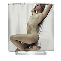 Inclined Nude Shower Curtain
