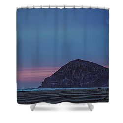Incoming Blue Shower Curtain