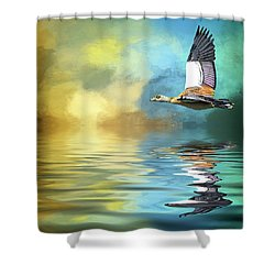 Incoming Shower Curtain by Cyndy Doty