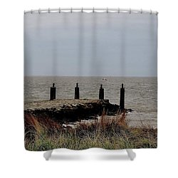 Incoming Freedom  Shower Curtain