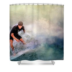 Shower Curtain featuring the photograph Incoming by Wallaroo Images