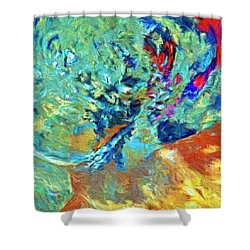 Shower Curtain featuring the painting Incursion by Dominic Piperata