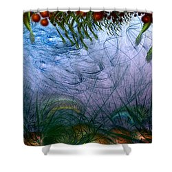 Incursion Into The Inversion Shower Curtain by Casey Kotas