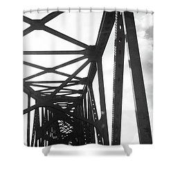 Shower Curtain featuring the photograph Indefinite Sight Bw by Jamie Lynn