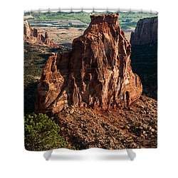 Shower Curtain featuring the photograph Indepedence Rock by Jay Stockhaus