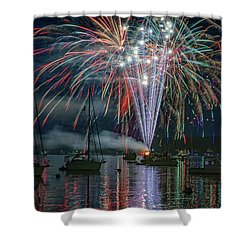 Shower Curtain featuring the photograph Independence Day In Maine by Rick Berk