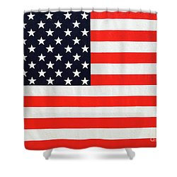 Independence Day Large Scale Oil On Canvas Original Landscape American Flag United States Flag Shower Curtain