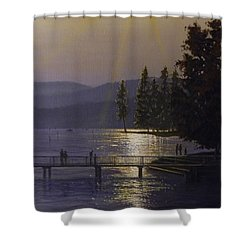 Independence Point, Lake Coeur D'alene Shower Curtain