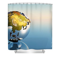 India, Asia, Japan Shower Curtain by Corey Ford