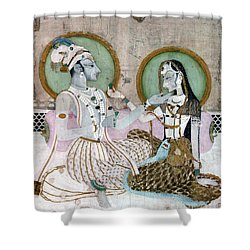 India: Couple Shower Curtain by Granger