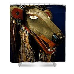 Indian Animal Mask Shower Curtain