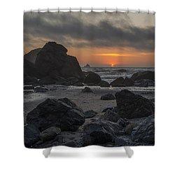 Indian Beach Sunset Shower Curtain