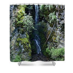 Shower Curtain featuring the photograph Indian Canyon Waterfall by Ben Upham III