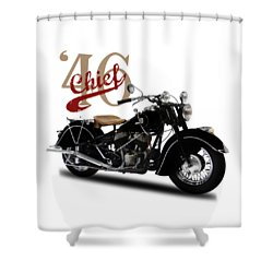 Indian Chief 1946 Shower Curtain by Mark Rogan