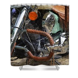 Indian Chief Vintage Ll Shower Curtain by Michelle Calkins