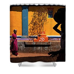 Indian Colors Shower Curtain by Marji Lang