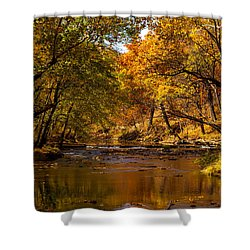 Indian Creek In Fall Color Shower Curtain
