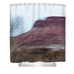 Indian Creek Winter Shower Curtain