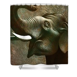 Indian Elephant 3 Shower Curtain by Jerry LoFaro