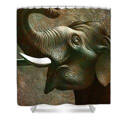 Indian Elephant 3 Shower Curtain by Jerry LoFaro