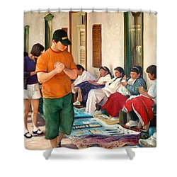 Indian Market Shower Curtain by Donelli  DiMaria