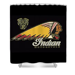 Indian Motorcycle Logo Series 2 Shower Curtain