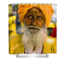 Indian Old Man Shower Curtain