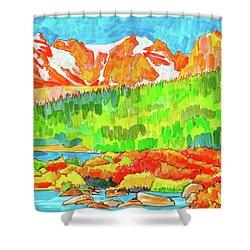 Indian Peaks Wilderness Shower Curtain