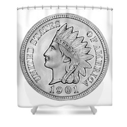 Indian Penny Shower Curtain