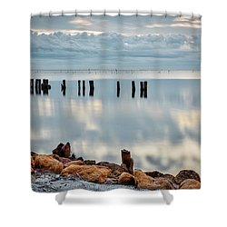 Indian River Morning Shower Curtain