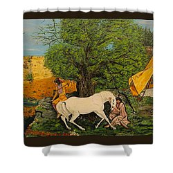 Indian Romance Shower Curtain by V Boge