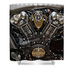 Indian Scout Engine Shower Curtain