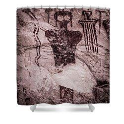 Indian Shaman Rock Art Shower Curtain by Gary Whitton