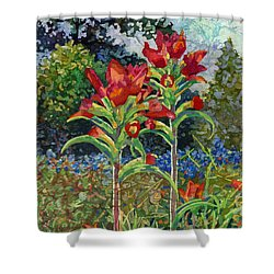 Indian Spring Shower Curtain by Hailey E Herrera