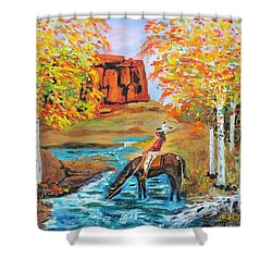 Indian Summer In The Rockies Shower Curtain