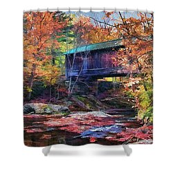 Indian Summer Shower Curtain by John Selmer Sr