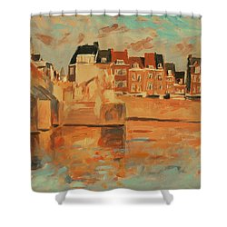 Indian Summer Light Maastricht Shower Curtain