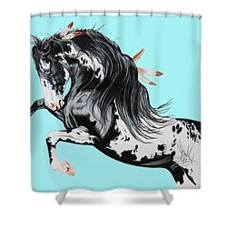 Indian War Pony - Mustang Shower Curtain