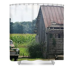 Indiana Back Road Common Denominator Shower Curtain