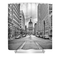 Shower Curtain featuring the photograph Indiana State Capitol Building by Howard Salmon